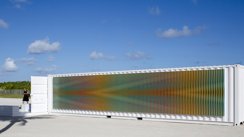 Untitled, Miami Beach, 2017, Special Projects - Carlos Cruz-Diez, Chromosaturation (exterior)